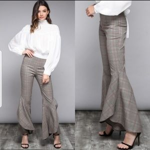 do & be Pants - #1 5⭐rated, Best Seller, Sexy Plaid Flare Pants